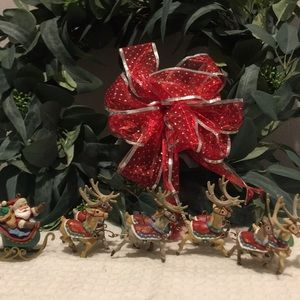 Hallmark Santa and his Reindeers collection
